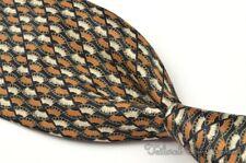 "BRIONI Multi-Color  Staircase Motif Geometric 100% Silk Mens Luxury Tie - 3.75"""