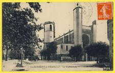 CPA France 34 - CLERMONT L'HÉRAULT en 1927 La CATHÉDRALE Collégiale Saint Paul