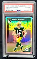 2018 Optic HOLO REFRACTOR Packers AARON RODGERS Card PSA 10 GEM MINT - Pop 2