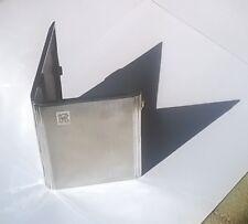 Vintage Pocket Cigarette Case - Silver Plated - Stylish Original 1940s
