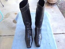 "VERO CUOIO BALDININI BLACK LEATHER BOOTS."" LONG LIFE INDIAN""  SIZE: 37- 5 US"