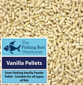 Vanilla Fishing Pellets 3mm 1kg-2kg - Sweet Feed Pellets - Coarse, Carp, Match