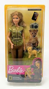 Barbie You Can Be Anything Photojournalist National Geographic Doll + Lion Cub