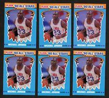 1990-91 Fleer All Star Michael Jordan (6) Card Lot
