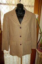 VINTAGE 80'S ~ ESPRIT ~ Wool Blend Check JACKET * Size 12 *
