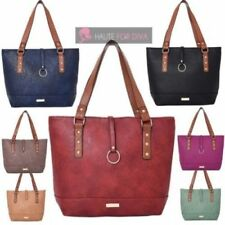Bolsos de mujer grande color principal marrón de piel sintética