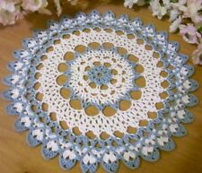 delf blue crocheted doily  by Aeshagirl
