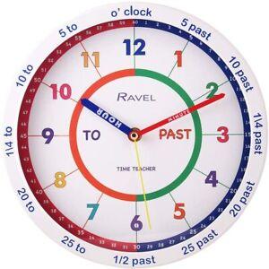 Ravel Children's 25cm Time Teacher Wall Clock -  Bedroom School Classroom