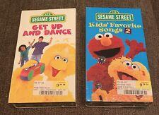 Vintage, Sesame Street VHS, Sealed, Lot of 2! Dance & Sing!