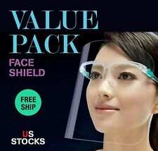10 PC FACE SHIELD CLEAR VISOR TRANSPARENT SAFETY WORK WALK SUPPLIES MASK