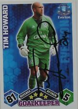 TIM HOWARD EVERTON Hand Signed MATCH ATTAX CARD