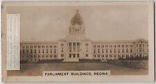 Parliament building Regina Saskatchewan  Canada 1930s Ad Trade Card
