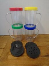 Magic Bullet Blender Cups with Color Tops 12 Pieces Pre Owned
