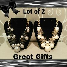 Bead Fashion Jewelry Necklaces Lot of 2 New Chunky