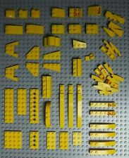 ~60 Lego Yellow 33º & Tapered Slopes 1x3 1x4 2x3 & Wings / Wedge Plates #146-8