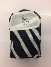 Junior Zebra Single Sleeping Bag In Matching Back Pack Striped Sleepover Camping