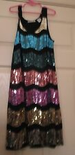 SALLY MILLER COUTURE Girls 14/16 GLITZ party FORMAL dress pageant SEQUIN glitz