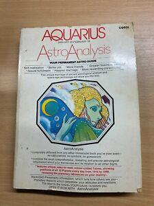 "*RARE* 1977 ""ASTRO ANALYSIS - AQUARIUS"" LARGE ASTROLOGY PAPERBACK BOOK (P5)"