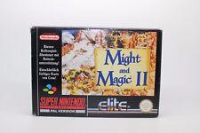 MIGHT AND MAGIC II 2 SUPER NINTENDO SNES PAL