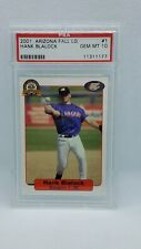 Hank Blalock 2001 Arizona Fall League Minor League #1 PSA Gem MINT 10 Rangers