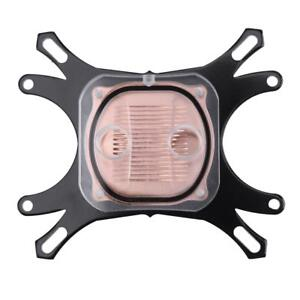 CPU WaterBlock Copper Base Liquid Cooler Computer Cooling Radiator for Intel AMD