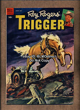 HTF 1954 Roy Rogers' Trigger #12 F/VF First Print Dell Gerber 4 Rating Rogers