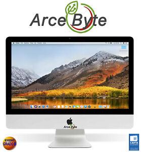 """APPLE IMAC 21.5"""" ALLUMINIO CORE i3 HD 500GB RAM 4GB FATTURABILE GRADO B RETRO"""