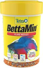 New listing Tetra BettaMin Flake Medley Color Boosting Fish Food 2 Pack 0.81 Oz. New