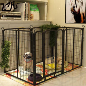 6 Panel Foldable Pet Play Pen Puppy Dog Animal Cage Run Fence Exercise Playpen