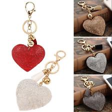 Charm Heart Crystal Rhinestone Handbag Pendant Keychain Bag Keyring Key Chain HS