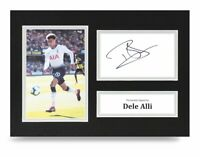 Dele Alli Signed A4 Photo Display Tottenham Hotspur Autograph Memorabilia + COA
