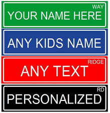 """MAKE YOUR OWN  2 SIDED PERSONALIZED ALUMINUM  METAL CUSTOM STREET SIGN, 6""""X24"""""""