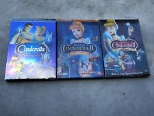 Cinderella Movies 1-3 DVD Trilogy 1 2 3 New and Sealed Free Shipping!