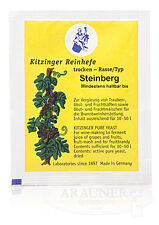 1x Steinberg Kitzinger Trockenhefe Weinhefe Reinhefe Wein selber machen 10-50l