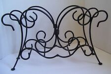 Plate Rack Holder Black Metal Wrought Iron Decorative Plate Storage Home Decor