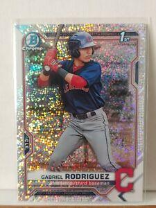 2021 Bowman Chrome Gabriel Rodriguez Speckle 1st Bowman RC #180 Indians 🔥🔥