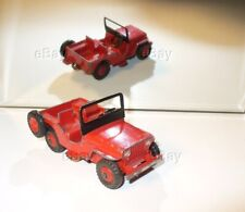 VINTAGE DINKY TOYS MECCANO ENGLAND UNIVERSAL JEEP 405 CIVILIAN RED/RED 25j 25y