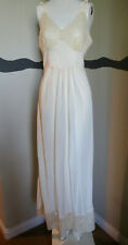Vintage 1930s Nightgown Lace Silk Rayon Floor Length