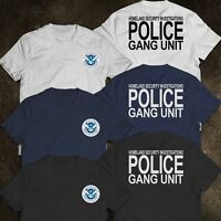 NEW Police HOMELAND SECURITY INVESTIGATIONS United States Department T-Shirt