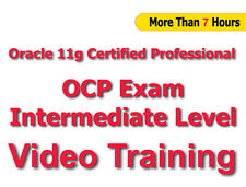 Oracle 11g Certified Professional OCP Intermed Level Video Training Tutorial CBT