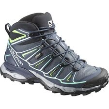 New Salomon Womens X Ultra GTX Blue Athletic Support Hiking Trail Mid Boots Sz 8