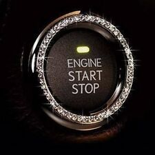 Bling Car Decor® Crystal Car Bling Ring Emblem, Rhinestone Ignition Button Decal