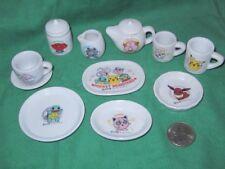 Pokemon Miniature Ceramic Dishes Set Bandai Vintage 1999