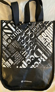 "Lulu Lemon Lululemon small carrier tote bag yoga gym pilates 12"" X 9.5"""