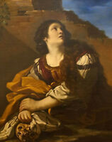"""perfect oil painting handpainted on canvas""""Mary Magdalene""""@13429"""