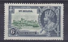 DB386) St. Helena 1935 Jubilee 6d green & indigo SG 126 with varieties