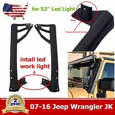 "07-16 Jeep JK 52"" LED Light bar Metal Upper Lower  Windshield Mounting Brackets"