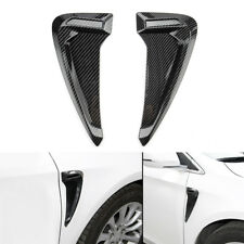 2X Carbon Fiber Side Body Marker Fender Air wing Vent Trim Cover For BMW Honda