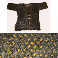 Medieval Chain mail Armor shirt 9 mm Flat Ring Riveted With Soiled Ring