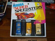 Aurora Super Speedsters 1975 mint on card with Camaro